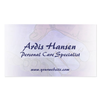 Cartões de visitas do cuidador das mãos amiga