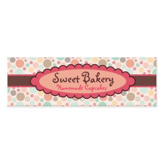 Cartões de visitas do cupcake da morango das bolin