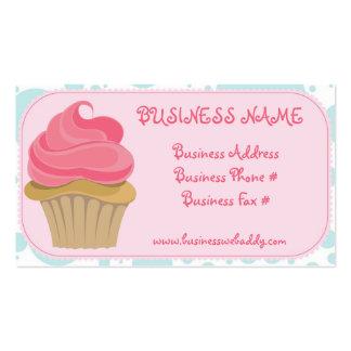 Cartões de visitas do cupcake da padaria