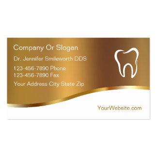 Cartões de visitas do dentista