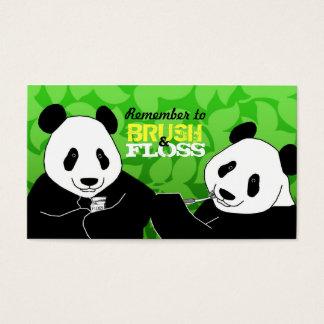 Cartões de visitas do dentista da panda