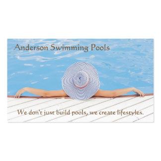 Cartões de visitas do desenhista da piscina