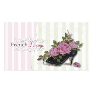 Cartões de visitas do design francês