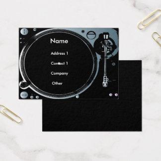 Cartões de visitas do disco-jóquei