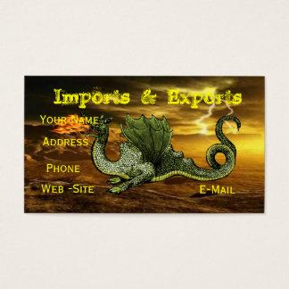 Cartões de visitas do dragão inteiramente