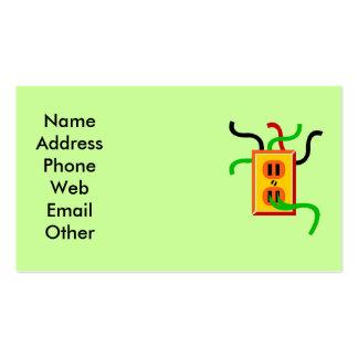 Cartões de visitas do eletricista