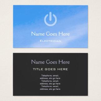 """""""Cartões de visitas do eletricista do céu azul"""" Cartão De Visitas"""
