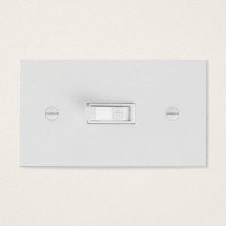 Cartões de visitas do eletricista (interruptor da
