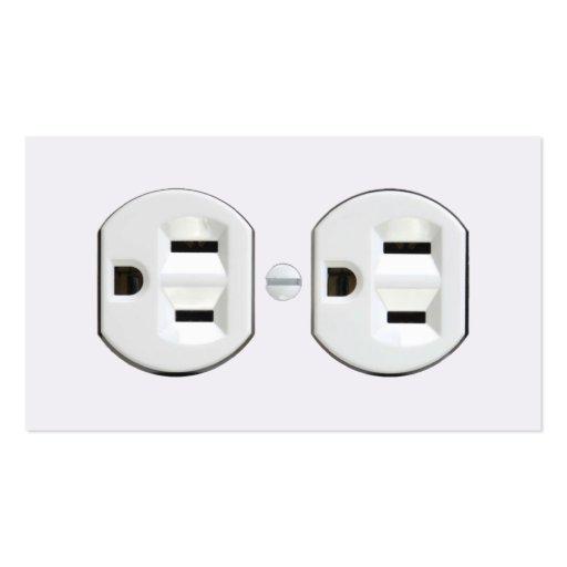 Cartões de visitas do eletricista (tomada elétrica