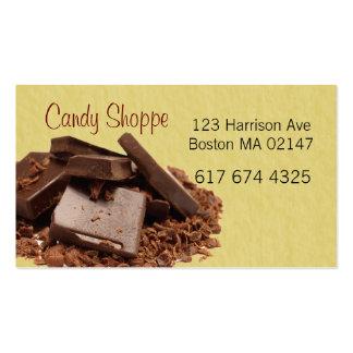 cartões de visitas do endereço dos doces