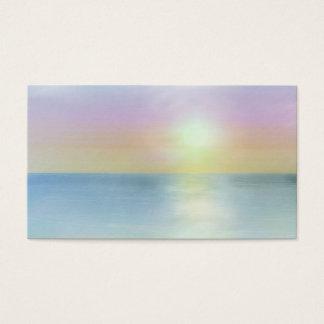 Cartões de visitas do espiritual do por do sol de