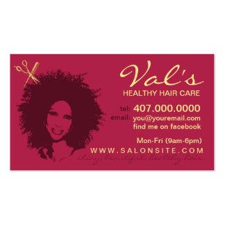 Cartões de visitas do estilista do afro-americano