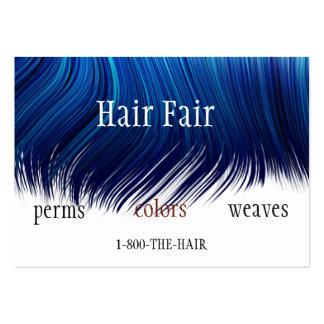 Cartões de visitas do estilo do cabeleireiro