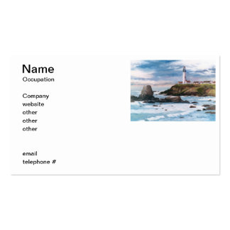 Cartões de visitas do farol do ponto do pombo