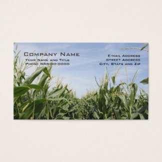 Cartões de visitas do fazendeiro do milho
