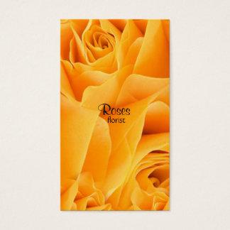 Cartões de visitas do florista dos rosas amarelos