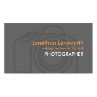 Cartões de visitas do fotógrafo
