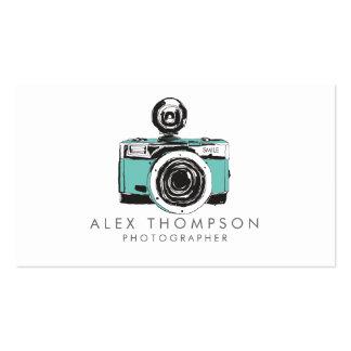 Cartões de visitas do fotógrafo da câmera do