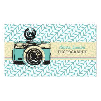 Cartões de visitas do fotógrafo da câmera do vinta