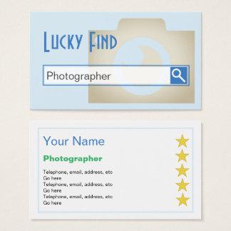 """""""Cartões de visitas do fotógrafo do achado Cartão De Visitas"""