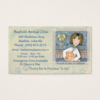 Cartões de visitas do gato persa do veterinário &