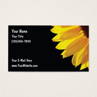 Cartões de visitas do girassol