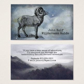 Cartões de visitas do guia da região selvagem dos