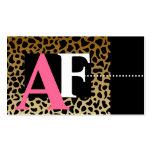 Cartões de visitas do impressão do leopardo