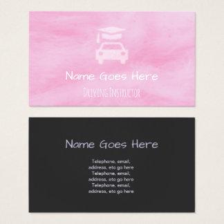 Cartões de visitas do instrutor de condução dos