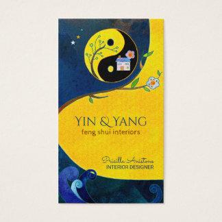 Cartões de visitas do interior de Yin & de Yang