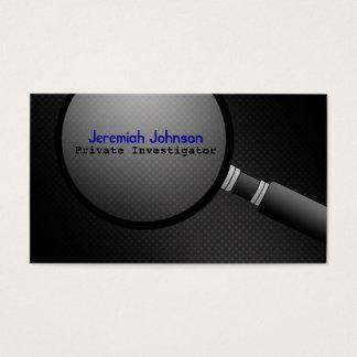 Cartões de visitas do investigador privado