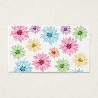 Cartões de visitas do jardim do arco-íris
