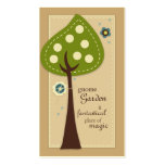 Cartões de visitas do jardim do gnomo