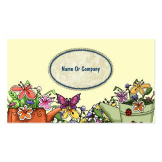 Cartões de visitas do jardineiro