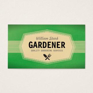 Cartões de visitas do jardineiro do vintage