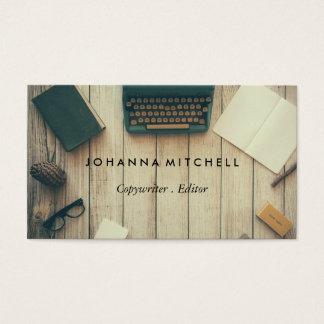 Cartões de visitas do jornal de Typwriter do
