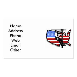 Cartões de visitas do lineman ou do eletricista