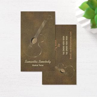 Cartões de visitas do logotipo da guitarra
