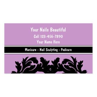 Cartões de visitas do Manicure