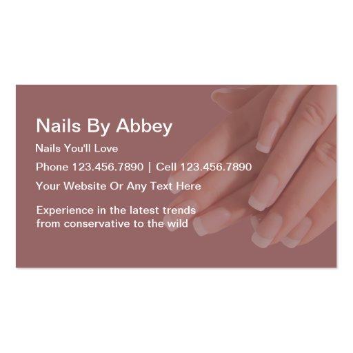 Cartões de visitas do Manicure com estilo