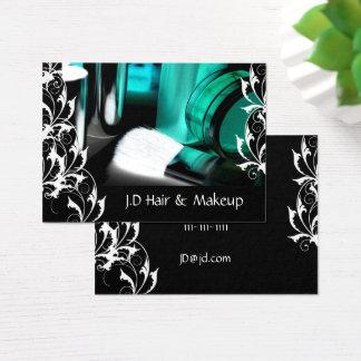 Cartões de visitas do maquilhador