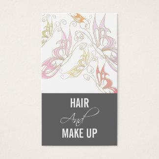 Cartões de visitas do maquilhador do Hairstylist