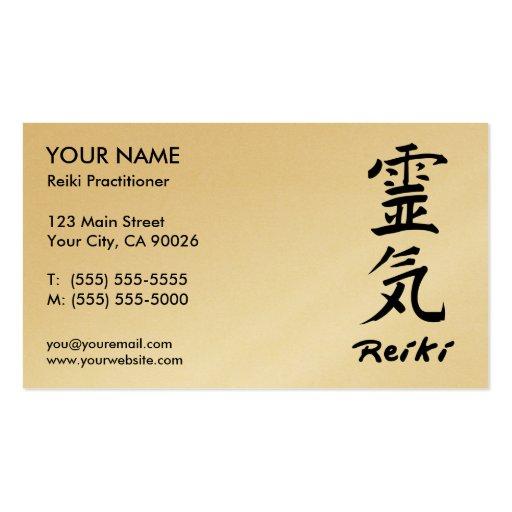 Cartões de visitas do médico de Reiki