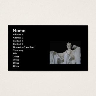 Cartões de visitas do memorial de Lincoln