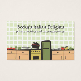 cartões de visitas do molho de tomate do cozinhar