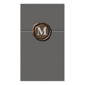 Cartões de visitas do monograma