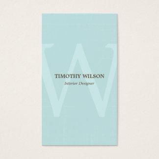 Cartões de visitas do monograma do vintage - luz -
