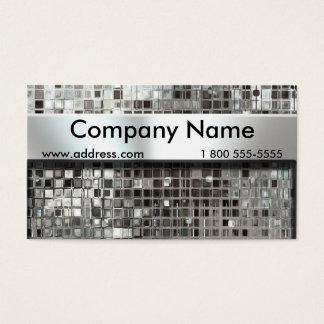 Cartões de visitas do mosaico e da placa de
