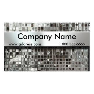 Cartões de visitas do mosaico e da placa de identi