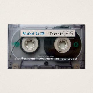 Cartões de visitas do músico da cassete de banda